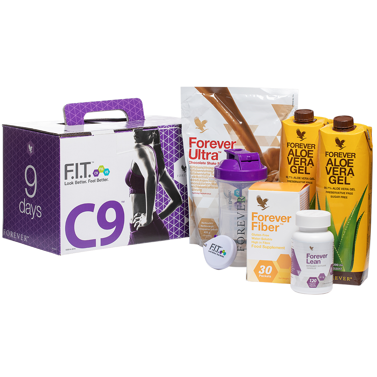 LE C9 Programme FIT - NutriLIFE Experts - Aloe Vera - Forever Living - Forever CLEAN 9